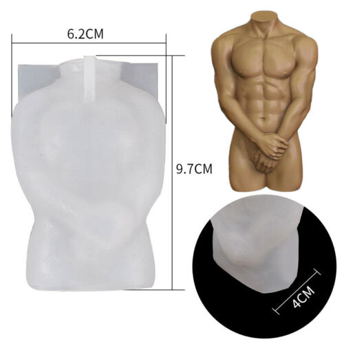 3D Body Resin Casting Mold Silicone Epoxy Making Candle Wax Soap Mould DIY Craft