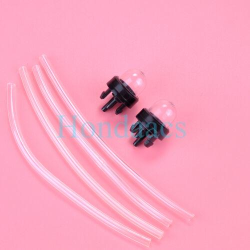 2 Pack Snap In Primer Bulb Bulbs WT Fuel Line For Ryobi Homelite Toro Craftsman