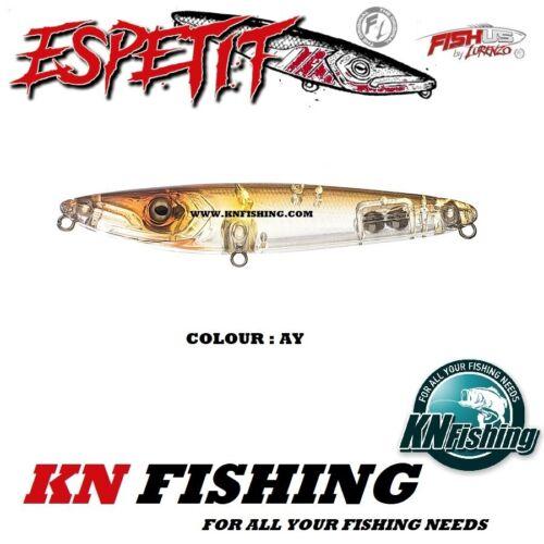 "FISHUS LURENZO /""ESPETIT 140mm/"" 32gr Hard Minnow Lures Topwater Spinning Bass"
