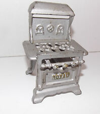 1920s ARCADE Cast IRON Toy DOLLHOUSE Miniature ROYAL Kitchen STOVE