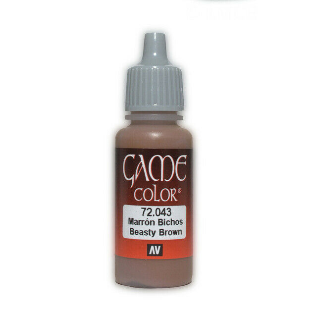 VALLEJO GAME COLOUR BEASTY BROWN 17 ML