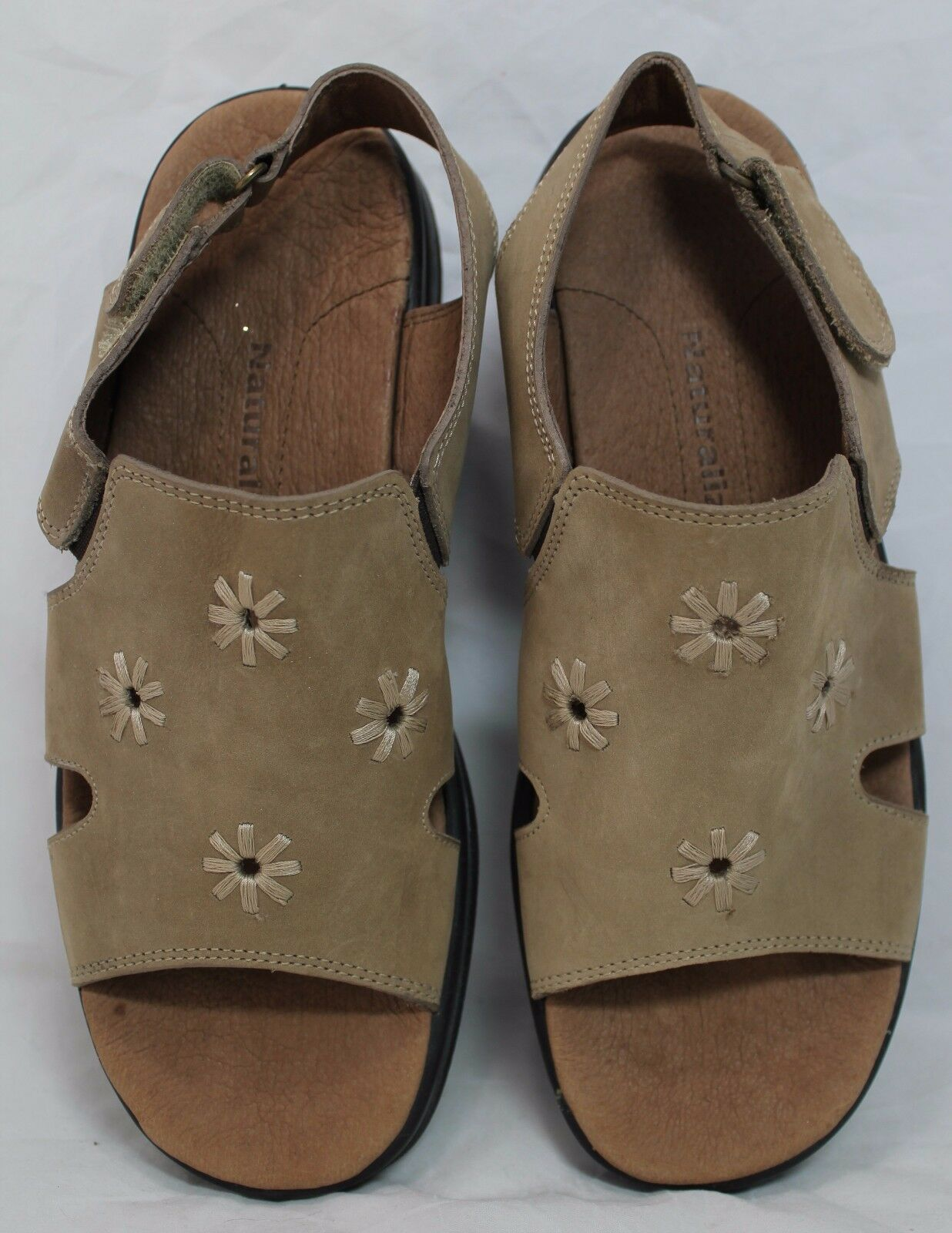 Women's Naturalizer Casual Wedge Sandals 8 Brown Adjustable Back size 8 Sandals M EUC cf0108