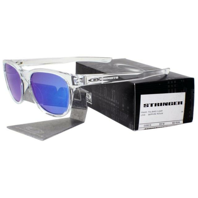 3d29e48541 Oakley OO 9315-06 STRINGER Polished Clear Sapphire Iridium Mens Sunglasses .