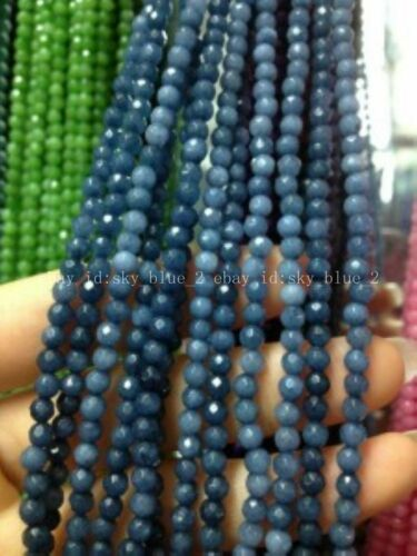 AAA++ 4mm Faceted Natural Brazilian Aquamarine Gemstone Round Loose Beads 15/'/'