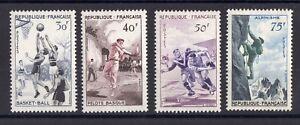 Francia-Serie-Completa-5-Francobolli-034-Sportive-034-Nuovo-Ytn-1072-1075-Cent