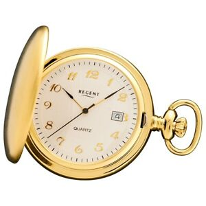 Regent Ladies, Men's Pocket Watches Quartz Movement Gold Plated URP015