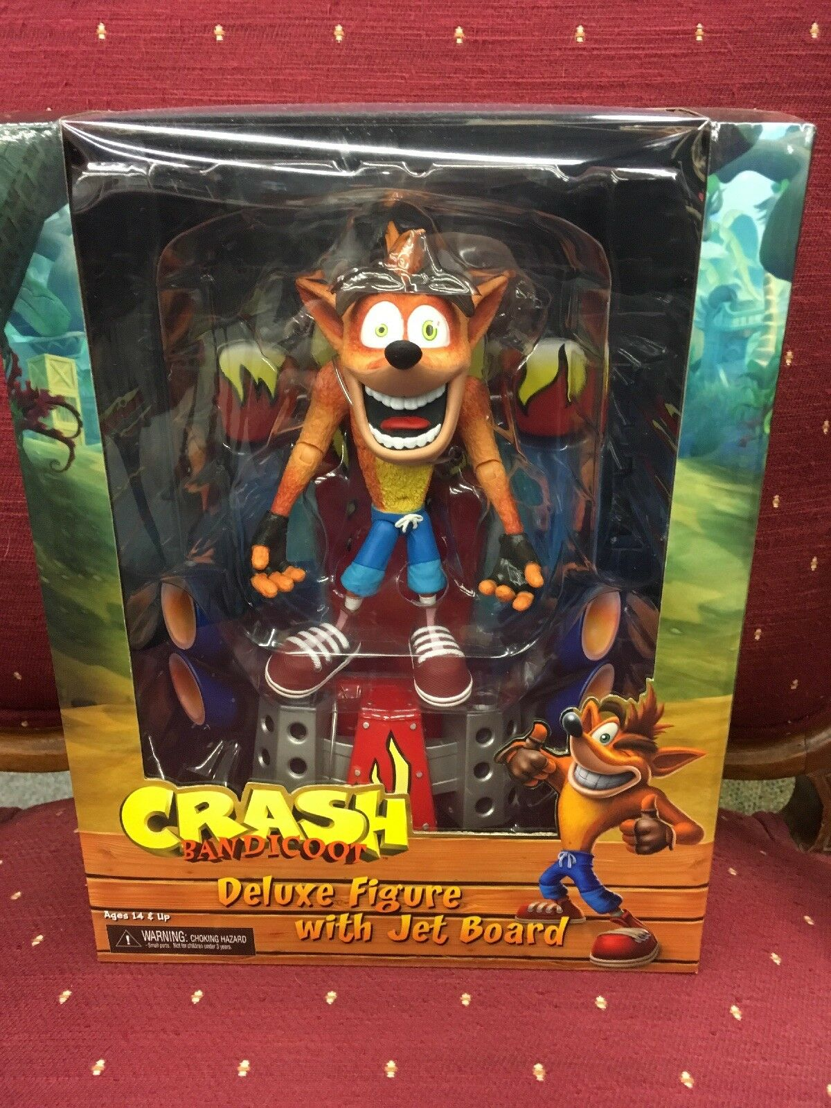 NEW NECA 7  CRASH BANDICOOT DELUXE FIGURE W  JET BOARD