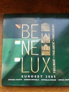 bénélux 2005 coffret bu (3x8pièces belgique,pays-bas,luxembourg)