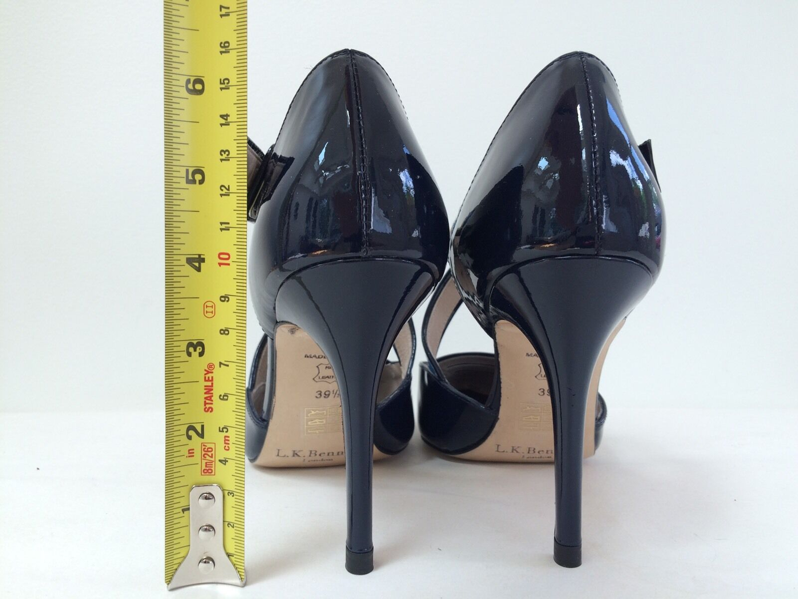 New L. K. BENNETT Monica Criss-Cross Pointed Toe Sz Pump Heel Schuhe Leder Sz Toe 39.5 75c32e