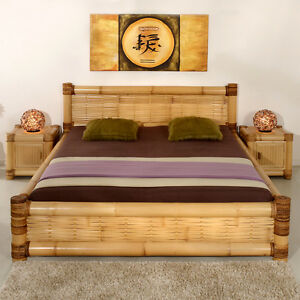 bambusbett 180x200 karimun abaca bett doppelbett bettrahmen bettgestell wasser. Black Bedroom Furniture Sets. Home Design Ideas