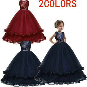 Lace Flower Girl/'s Wedding Dress Holy Communion Party Prom Princess Pageant Kids