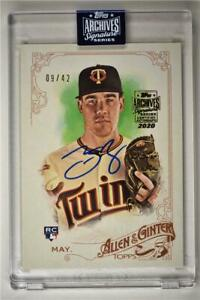 2020-Archives-Encased-2015-Allen-amp-Ginter-Auto-240-Trevor-May-42-Twins