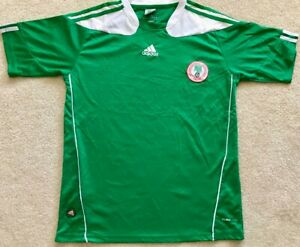official photos 60b1e acfe4 Details about Nigeria National Soccer Football Team Kit Adidas CLIMACOOL  Jersey Size L Green