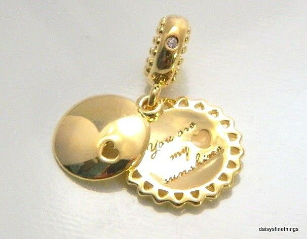 5b2749893 Auth PANDORA Shine 18k Gold You Are My Sunshine Charm Pendant 767066en58