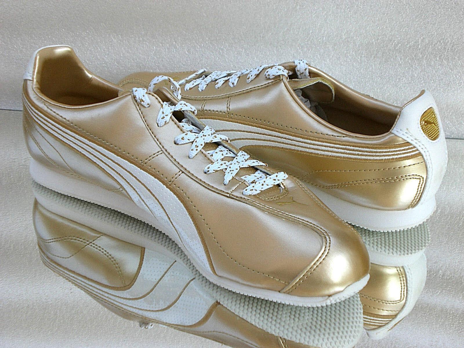 Puma Esito Metallic WP Gold-White Sneaker/Turnschuhe 349144 01 Größen 41-46 Neu