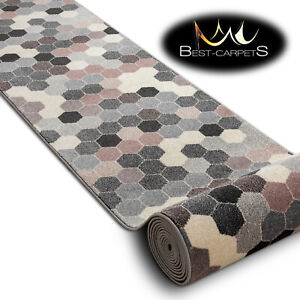 Amazing-Hall-Runner-034-HEOS-034-Hexagon-grey-pink-Width-70-80-cm-extra-long-Stairs