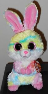 "Ty Beanie Boos ~ LOLLIPOP the 6"" Tie Dyed Easter Bunny ~ 2018 NEW ~ IN HAND"