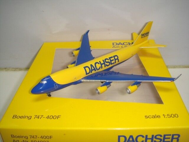 Herpa Wings 500 Dachser Air & Sea Freight B747-400F  Exlusive  1 500 NG