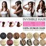 Handmade 100% Human Hair Invisible Wire Halo Handband Hair Extensions 16'' 80G