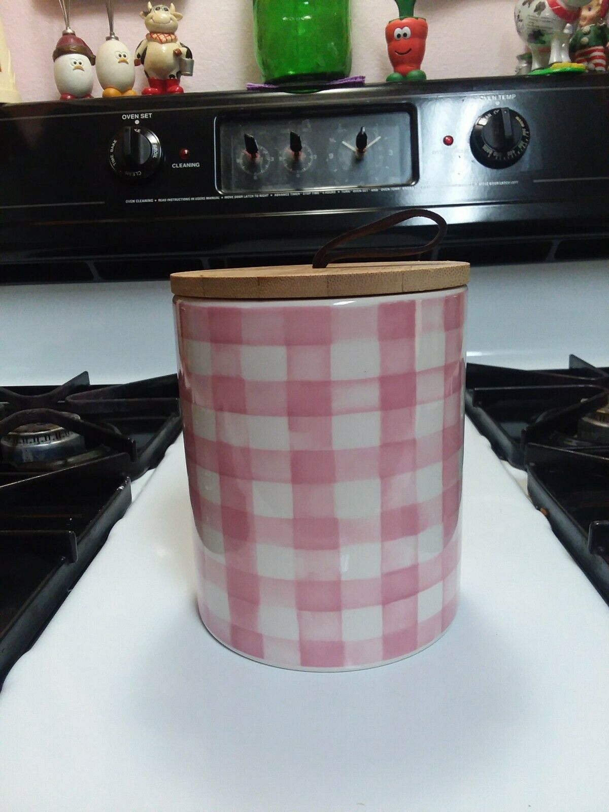 Hobby Lobby Kitchen Decor Ceramic Canister Red Bird Jar Lid Chalkboard Label 12 For Sale Online Ebay