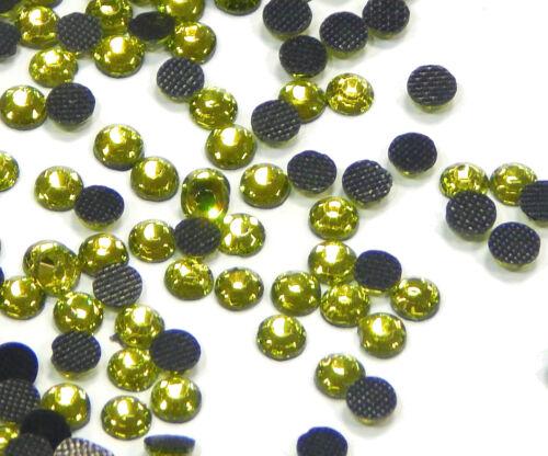 1440 Hotfix SS20 Strasssteine 5mm GRÜN GLAS Bügelsteine Glitzersteine 482