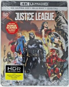 New-Justice-League-Limited-Edition-Steelbook-4K-UHD-Blu-ray-2-Disk-Set