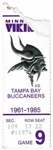 Steve-Young-1st-NFL-TD-Pass-Ticket-Stub-Buccaneers-at-Vikings-1985-49ers-First