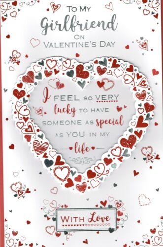 Copine ~ Fabuleux Ex-Grand Saint-Valentin carte 8 pages insert Valentine