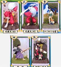INUYASHA mini figure set of 5 anime Authentic Sango Kagome Miroku diorama