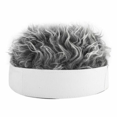 Unisex Women Men Beanie Rock Cap Outdoor Punk Street Funny Wig Fake Hair Hat