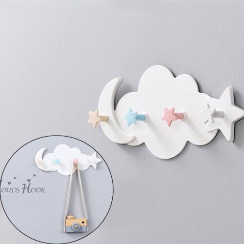 Seamless Traceless Hat Shelf Wall Rack Hanger Holder Adhesive Hook Cloud Hooks