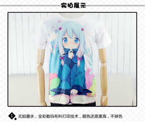 Anime Re zero kara hajimeru isekai seikatsu Rem Ram Men/'s T-shirt Unisex Tops