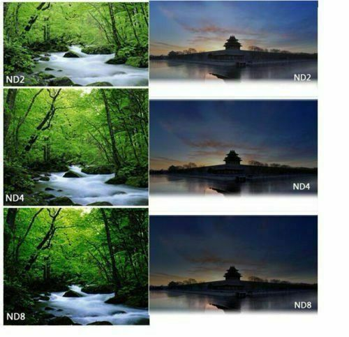 Aumento Paño de Microfibra para Canon Nikon Sony Reino Unido ND2 ND4 ND8 Kit Conjunto de Filtros