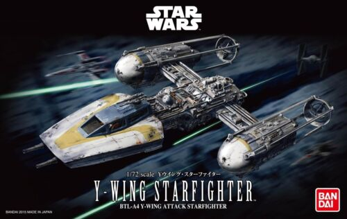 Bandai 172 Scale Model Kit Star Wars YWing Starfighter