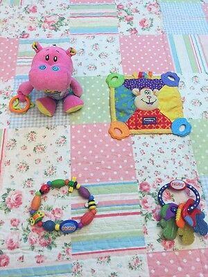 Nuby Succhietto Bambino, Rosa Hippo, Teether Bundle-
