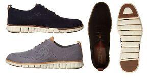 Cole-Haan-Men-039-s-ZeroGrand-Stitchlite-Lace-Up-Oxford-Shoes-WingTip-Woven-Shoes