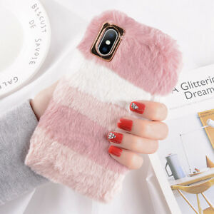 For-iPhone-XS-Max-XR-X-8-6s-7-Plus-Fluffy-Warm-Plush-Soft-TPU-Phone-Case-Cover
