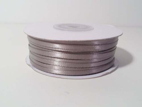 Double Face SILVER 100/% Polyester Satin Ribbon Assorted Sizes