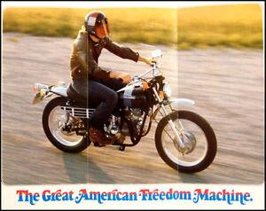 1973-Harley-Davidson-ORIGINAL-SX-350-Brochure-Xlnt-Motorcycles-Original
