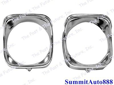LH New Dii 1969 Chevelle /& El Camino Headlamp Bezels Inner /& Outer