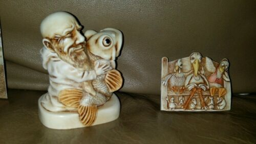 Francis /& The Fish Pax et Bonum  Preaching to the Birds MINT Harmony Kingdom St