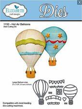 Elizabeth Crafts Designs Cutting Die Set ~ HOT AIR BALLOONS Flying, Sky  ~1150