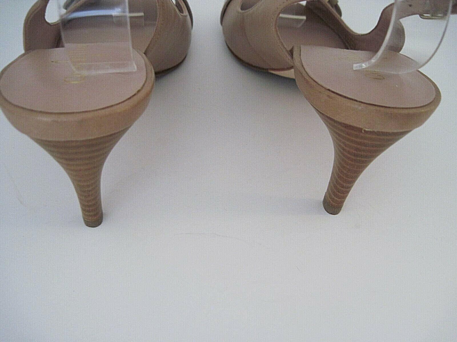 Cole Haan Nke Air damen Maple Maple Maple Sugar Leather Slingback Open Toe Pump 8 1 2B, NEW bb454a