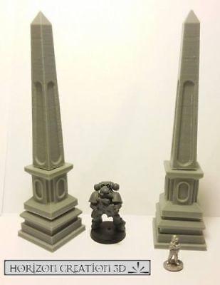 Hc3d-terra Terreno Impilabile Obelischi-wargames Miniature Paesaggio 40k 28 M 15 Mm-mostra Il Titolo Originale