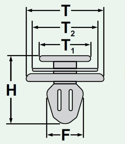 10x Panneau de porte couverture Clips Fixation Colliers Support Panel Blanc 57d