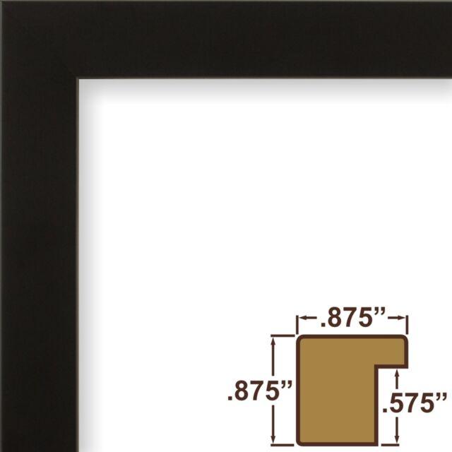 Craig Frames Confetti, Modern Black Solid Wood Picture Frame