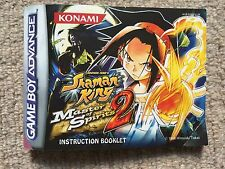MANUAL ONLY Shaman King Master Of Spirits 2 - Game Boy Advance GBA Manual Only