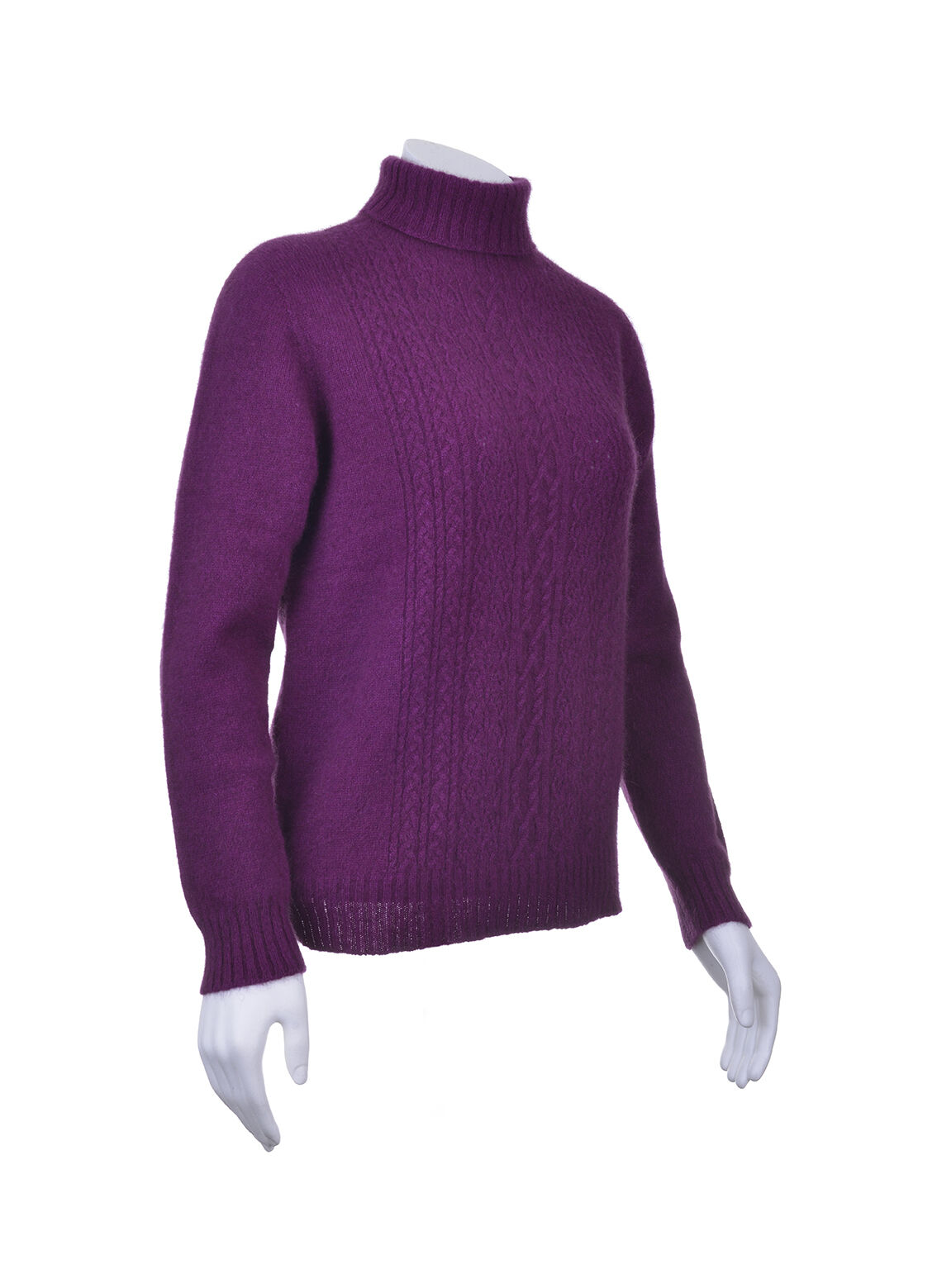New Fur Detail Lace with Jersey Neck Polo Knitwear Wool