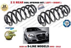 FOR AUDI A3 S LINE MODELS TFSI TDI QUATTRO 2003-2012 2 X REAR COIL SPRINGS SET