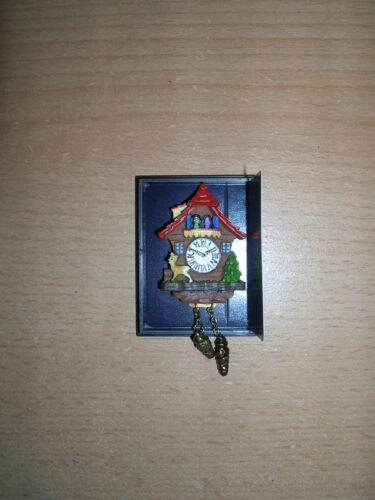 Reutter Porzellan//Orologio a cucù Cuckoo Clock Red bambole Tube 1:12 ART 1.394//5